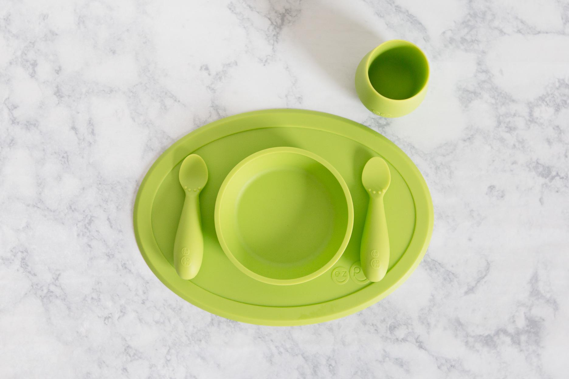 Набор из 4-х предметов цвет лайм EZPZ First Food Set