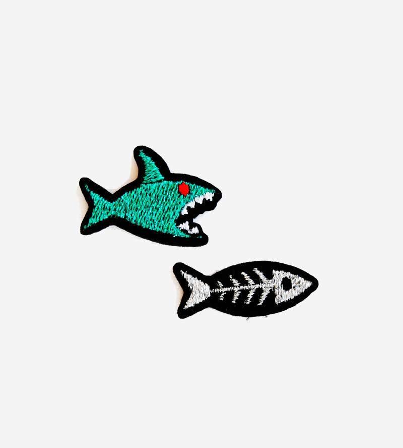 Набор патчей-заплаток Shark & Fishbone