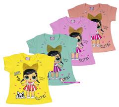 1258 футболка девочка с собачкой