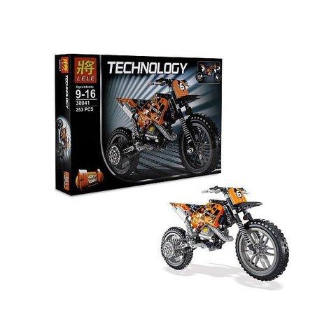 Конструктор LELE Technic Кроссовый мотоцикл 38041 ,253 дет