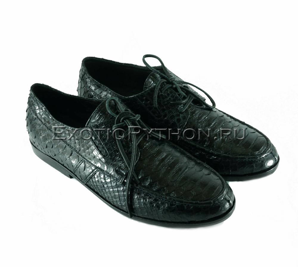 Ботинки из кожи питона SH-118