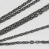 Цепь (цвет - черный никель) 3х2 мм, примерно 2 м