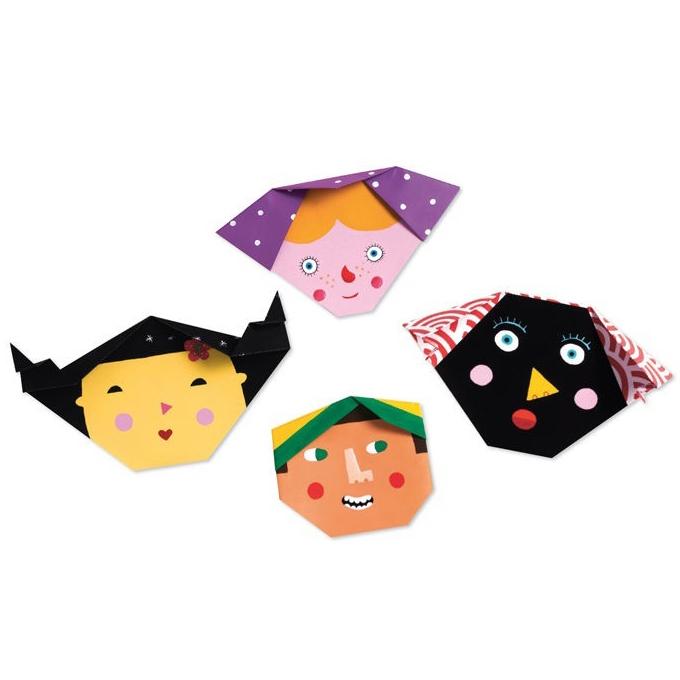 Оригами Бумажные лица
