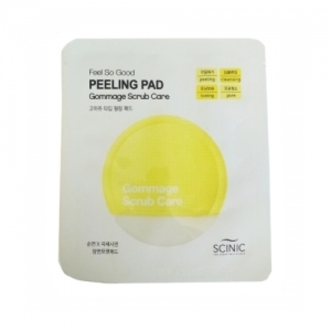 Спонж пилинг-скраб Scinic FEEL SO GOOD SCRUB Peeling PAD