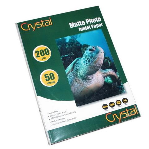 Фотобумага Crystal 200г/м2, A4, 50л. глянец