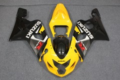 Комплект пластика для мотоцикла Suzuki GSX-R600/750 04-05 Желто-Черный