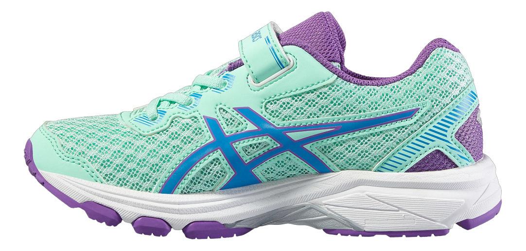 Спортивные кроссовки для девочек Asics (Асикс) GT-1000 5 PS бирюзовые на липучке фото