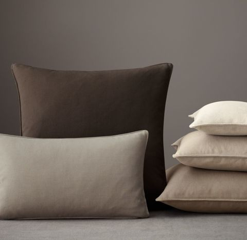Custom Brushed Linen Cotton Stitched Pillow Cover