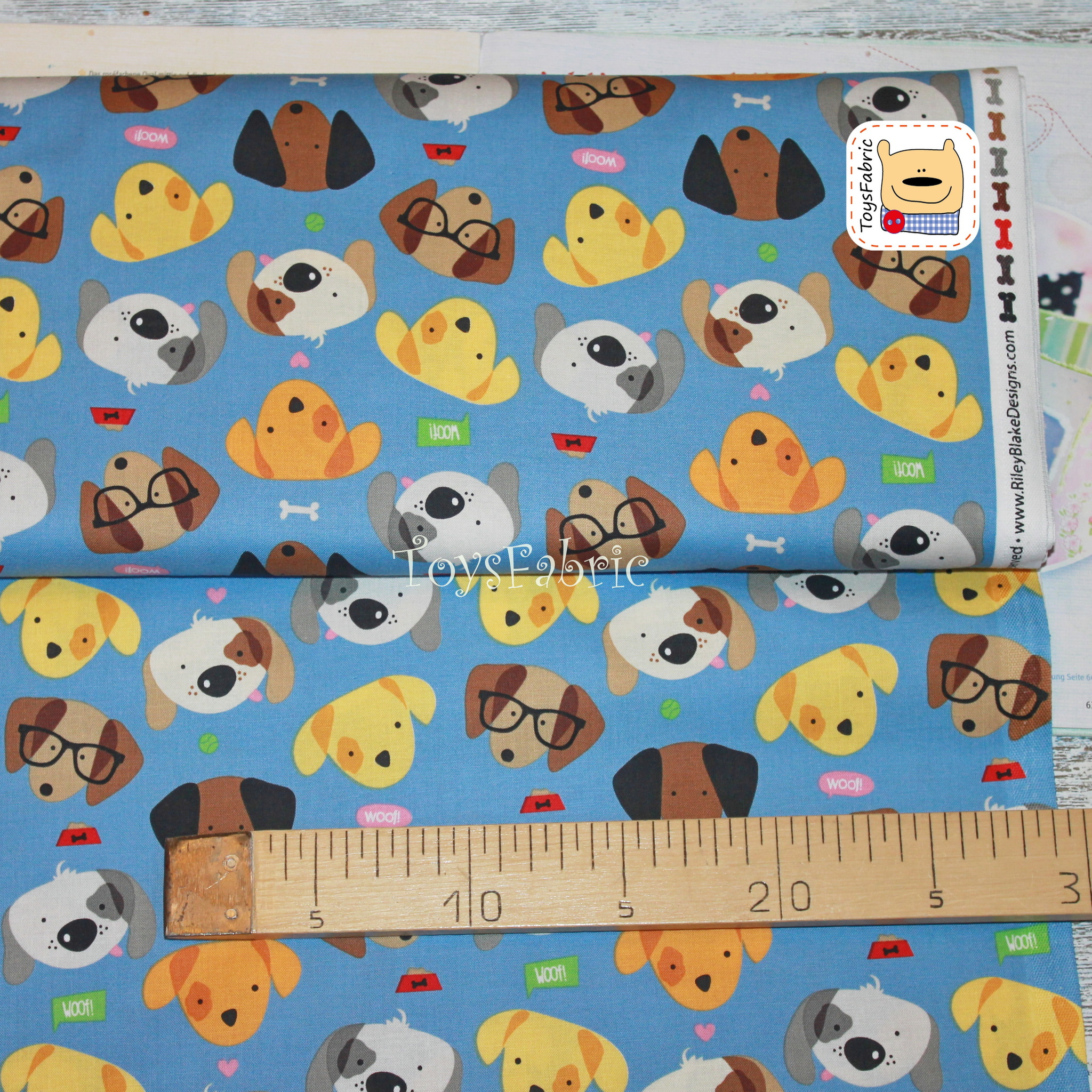 Ткань для пэчворка 20657 (веселые собаки) 45х55см