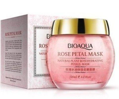BIOAQUA Rose Petal Mask Ночная маска с лепестками роз, 120 гр