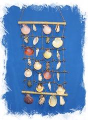 Декоративная сеть с ракушками 24*36 см