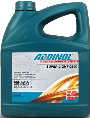 Моторное масло ADDINOL SUPER LIGHT 0540 5W-40 4л