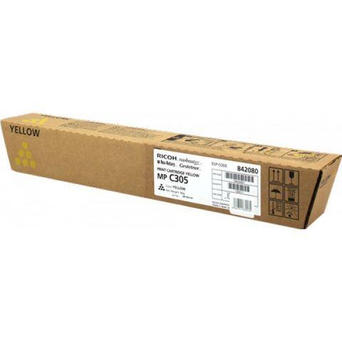 Тонер-картридж тип MPC305E желтый для Ricoh Aficio MPC305SP/SPF. Ресурс 4000стр. (842080)