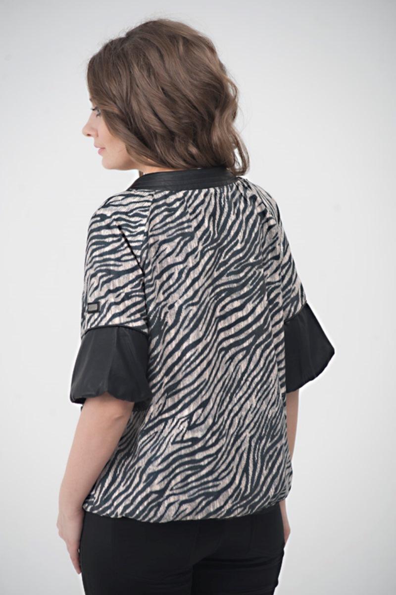 Куртка 07415 черно-белый