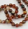 """Бусина Агат """"Крейзи"""", шарик с огранкой, цвет - коричнево-бежевый, 8 мм, нить"""