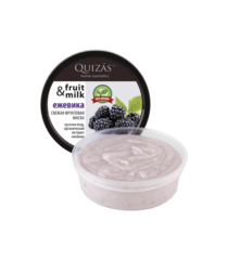 Маска для лица ЕЖЕВИКА из свежих фруктов, для сухой и комбинированной кожи, 150ml ТМ Quizas