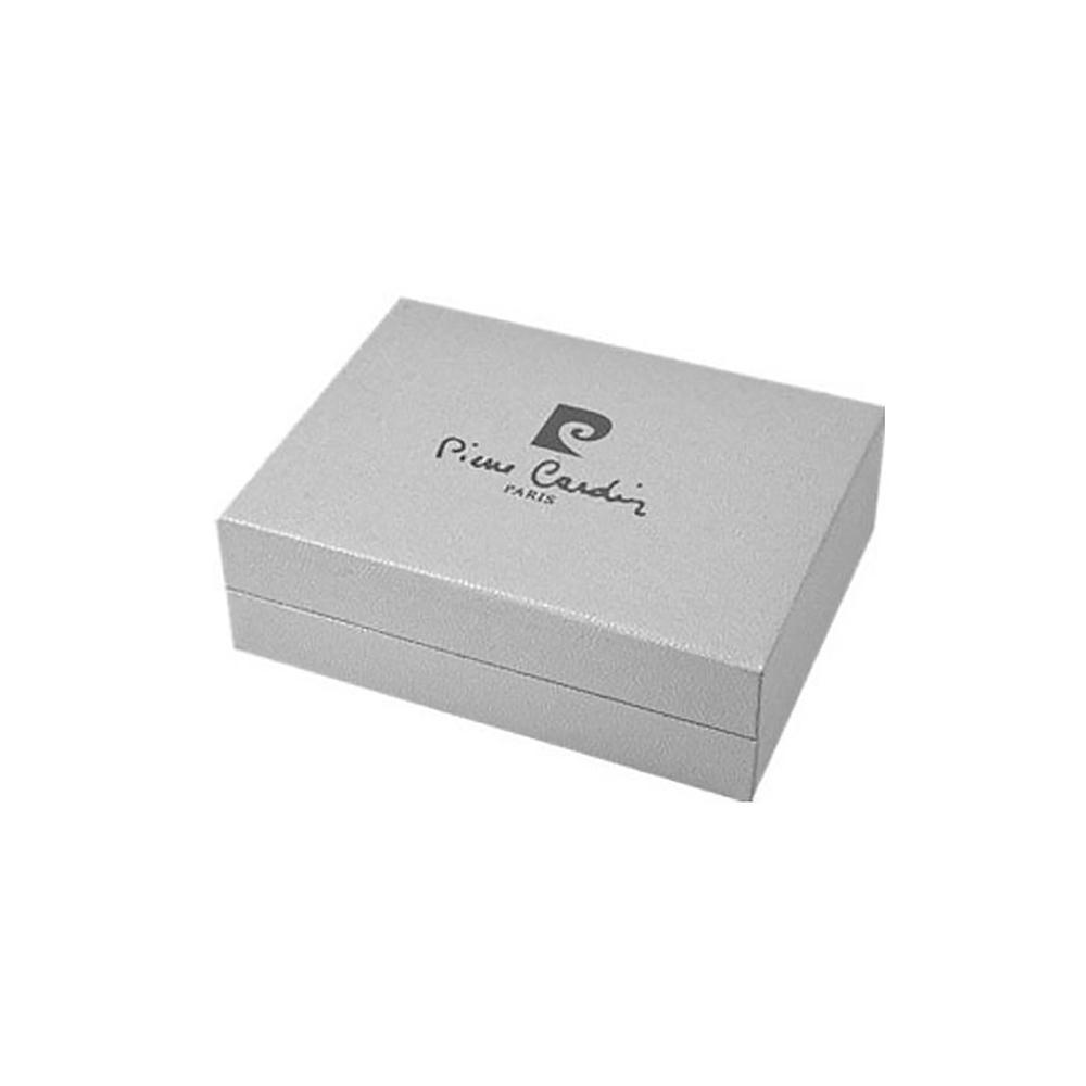 Зажигалка Pierre Cardin газовая пьезо, для трубок, цвет серебристый/черный, 3,5х1,4х7,2см