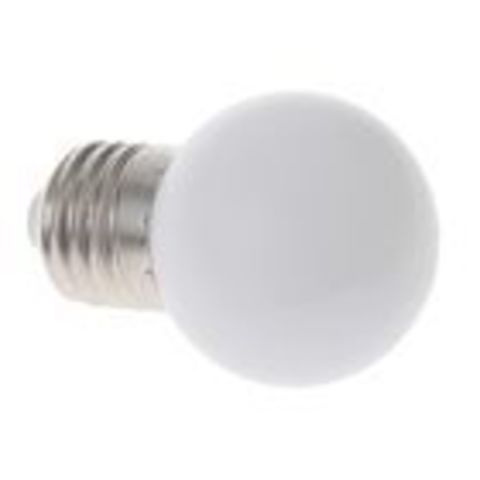 Светодиодная лампа - шарик, 1Вт, Е27, мульти.