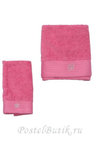 Набор полотенец 5 шт Blumarine Crociera розовый