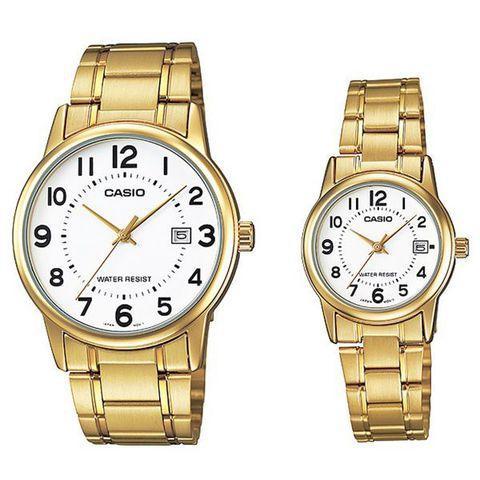 Купить Парные часы Casio Standard: MTP-V002G-7BUDF и LTP-V002G-7BUDF по доступной цене