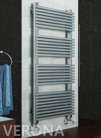 Verona  -  водяной дизайн полотенцесушитель цвета хром