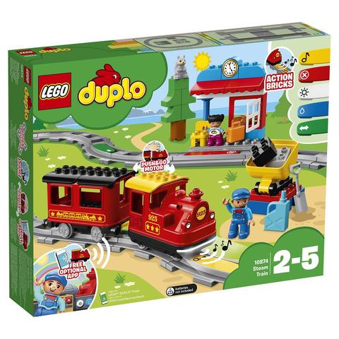 LEGO Duplo: Поезд на паровой тяге 10874 — Steam Train — Лего Дупло