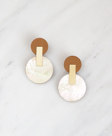 Серьги Celeste Earrings Mother of Pearl