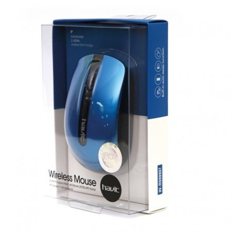 Мышь беспроводная HAVIT HV-M989GT USB black/blue