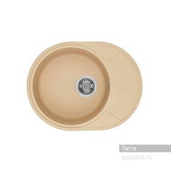 Мойка Акватон Чезана 1A711232CS260 для кухни из искусственного камня, латте