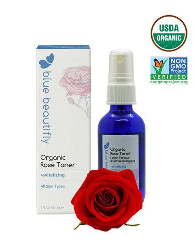 Органический тонер с экстрактом Розы Blue Beautifly, 59 мл