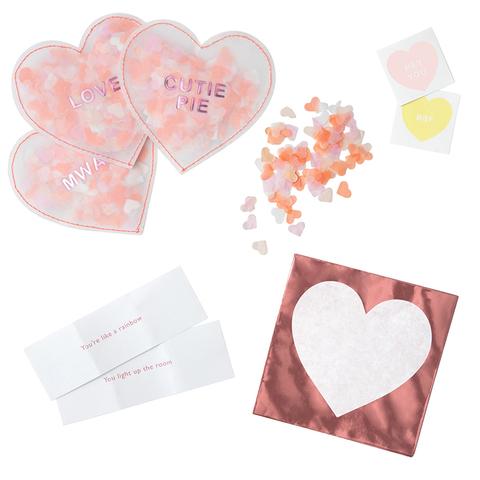 Набор октрыток с конфетти и наклейками