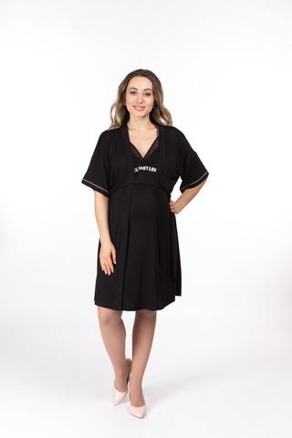 Халат для беременных 11031 черный