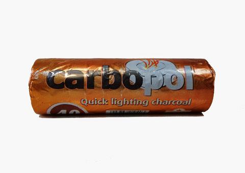 Купить легковоспламеняющийся древесный уголь Carbopol 40 мм в Москве