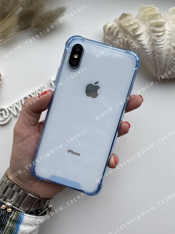 Чехол iPhone X/XS Simple pure angle /blue/ 446