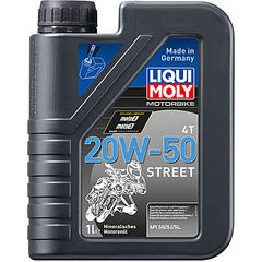 7632 LiquiMoly Мин.мот.масло д/4-т.мотоц. Motorrad 4T  20W-50 SG/SJ/SL(1л)