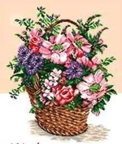 Корзинка с лесными цветами