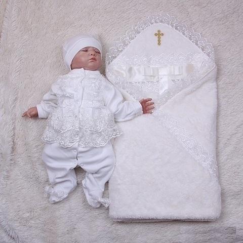 Набор крестильный Бантик Мальвина (айвори)