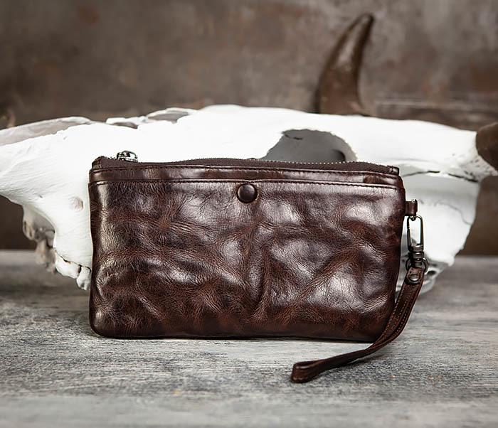 WL311-2 Добротное мужское портмоне из мятой натуральной кожи фото 03