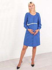 Евромама. Платье для беременных и кормящих с застежкой впереди, василек