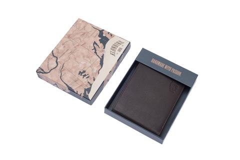 Кожаный бумажник Klondike 1896 «Claim brown» 4 отделения, Germany, фото 6
