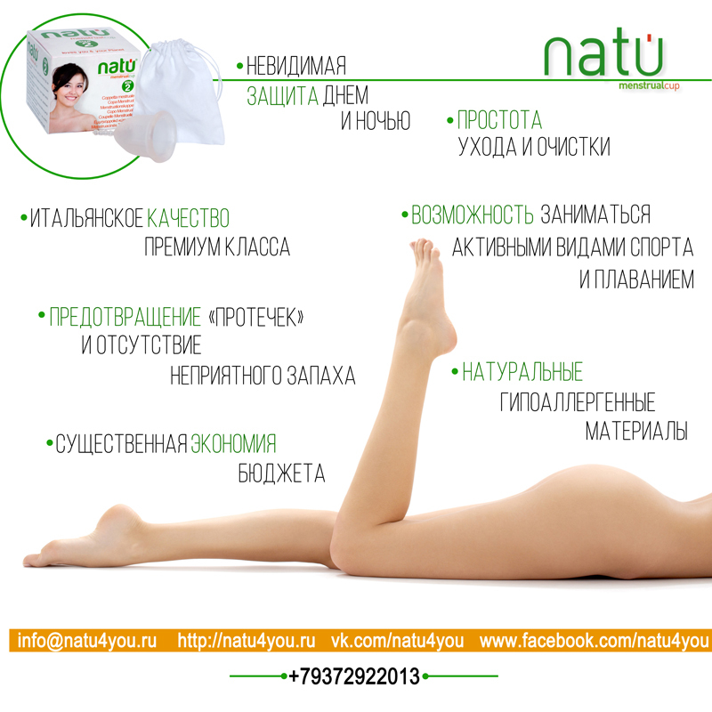 Набор менструальных чаш NATU (1 и 2 размера)