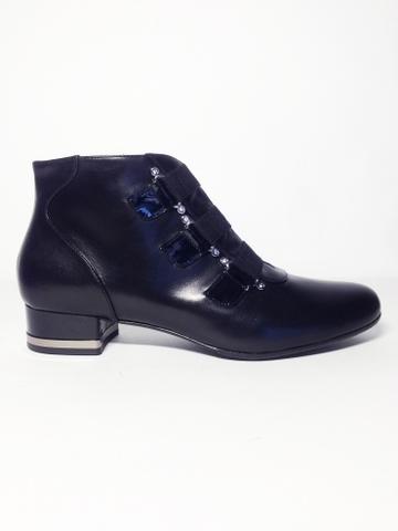 Осенние ботинки Giada Gabrielli каблук 3 см 8403, артикул 8403, сезон осень, цвет чёрный, материал кожа, цена 9 500 руб., veroitaly.ru
