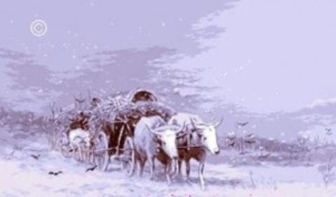 Повозка с волами (С. Лукьян)