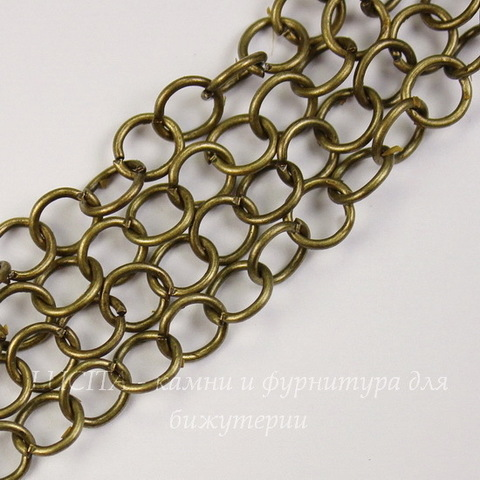Цепь (цвет - античная бронза) 7 мм, примерно 1 м