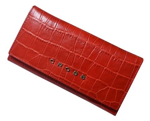 Кошелёк Cross Bebe Coco, кожа наппа фактурная, цвет красный/бежевый, 19,5 х 10,2 х 2,5 см