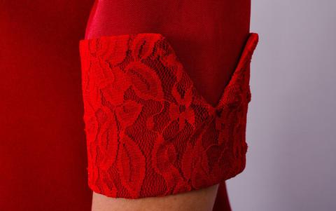 Евелін. Модне плаття великих розмірів. Червоний.