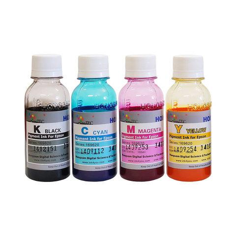 Комплект чернил Dctec для Epson L655, L1455, L605, L4160, L6160, L6170, L6190. 4 x 100 ml