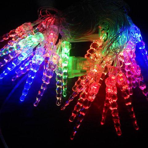 Гирлянда сосулька новогодняя декоративная светодиодная уличная