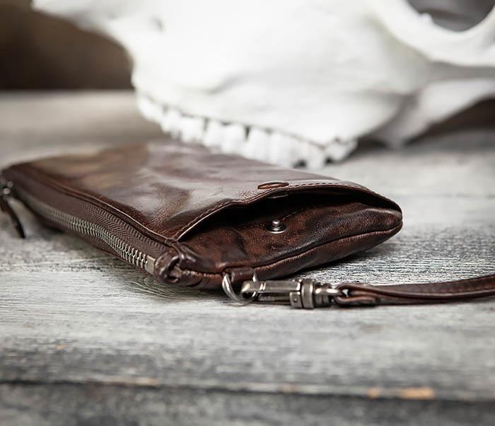WL311-2 Добротное мужское портмоне из мятой натуральной кожи фото 05