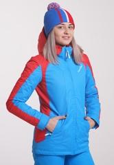 Утеплённая прогулочная лыжная куртка Nordski National blue 2018 женская